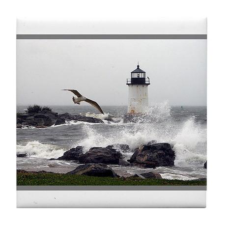 """Beautiful Lighthouses"" Tile Coaster"