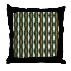 Green Pattern 002 Throw Pillow