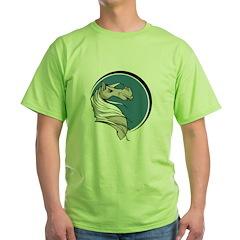 Grey Stallion Circle Design T-Shirt