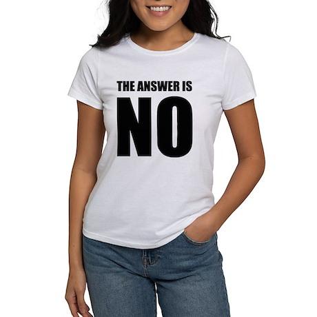 NO! Women's T-Shirt