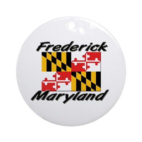 Frederick Maryland Ornament (Round)