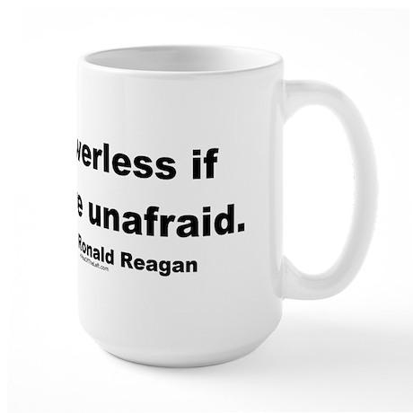 Reagan Evil Is Powerless Large Mug