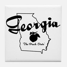 Georgia State Tile Coaster