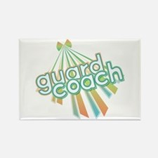 Retro Guard Coach Rectangle Magnet