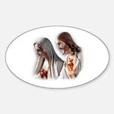 Sacred Hearts Oval Decal