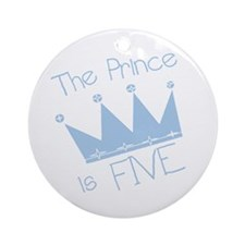 Prince I'm Five Ornament (Round)