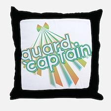 Retro Guard Captain Throw Pillow
