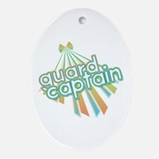 Retro Guard Captain Oval Ornament