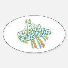 Retro Guard Captain Oval Decal