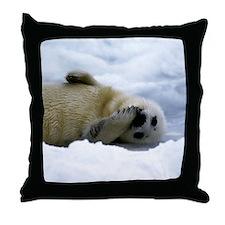 Harp Seal Throw Pillow