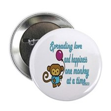 Spreading Love Monkeys Button