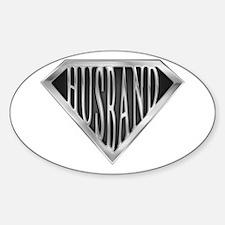 Super Husband(metal) Oval Decal