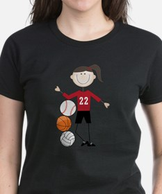 Unique Volleyball stick people Tee