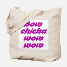BOW CHICKA WOW WOW dvd video Tote Bag
