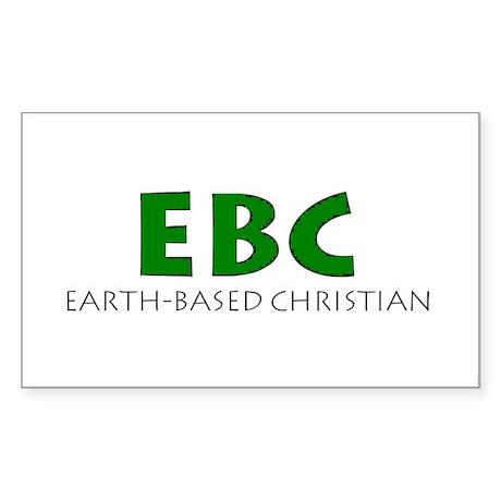 Earth-Based Christian Rectangle Sticker