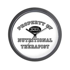 Property of a Nutritional Therapist Wall Clock