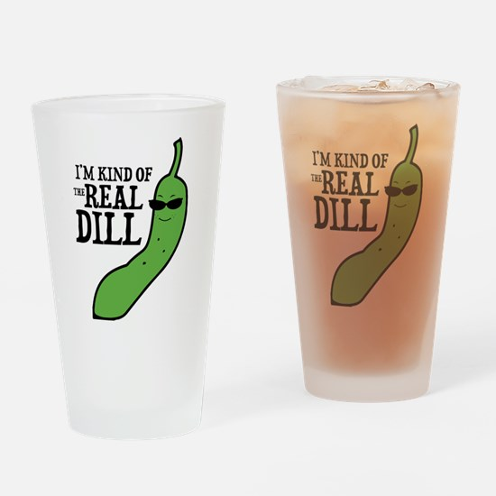 Real Dill Drinking Glass