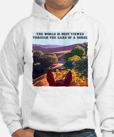 Through the ears of a horse. Hoodie