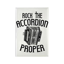 Rock the Accordion Rectangle Magnet