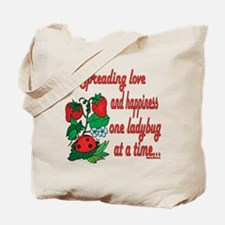 Spreading Love Ladybugs Tote Bag