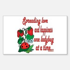 Spreading Love Ladybugs Rectangle Decal