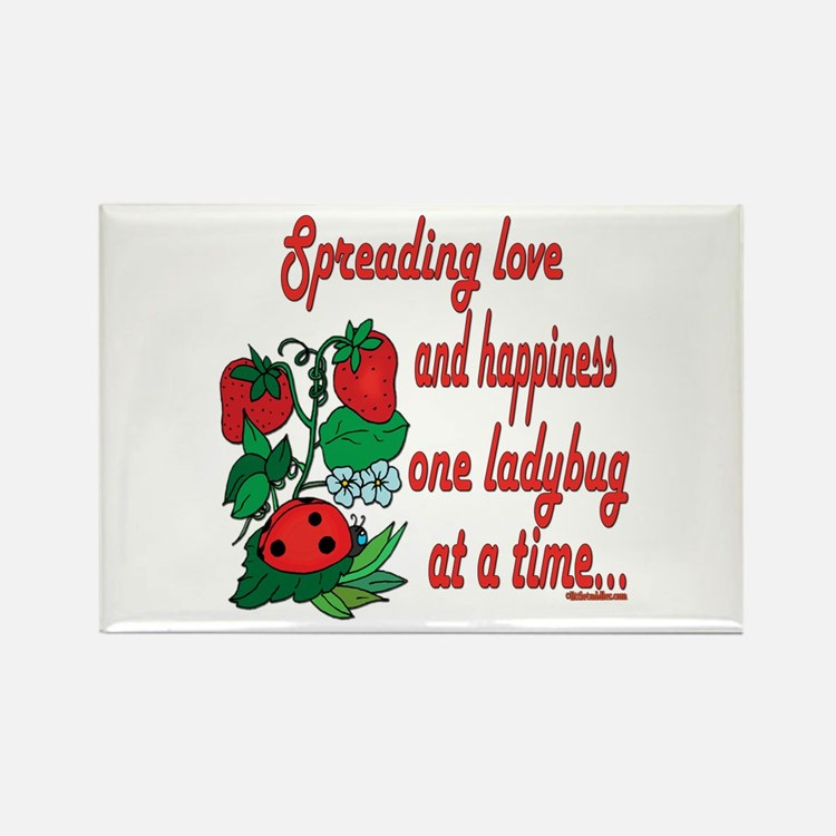 Spreading Love Ladybugs Rectangle Magnet