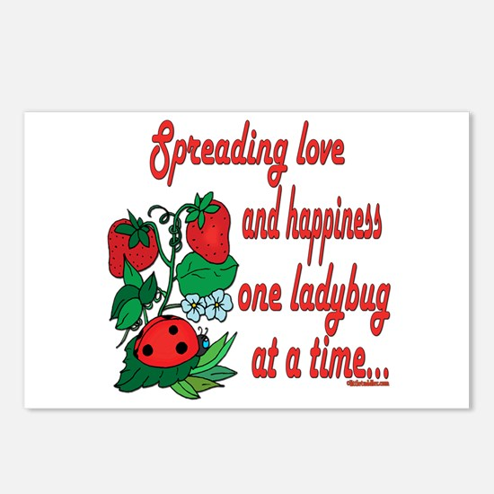 Spreading Love Ladybugs Postcards (Package of 8)