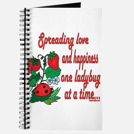 Spreading Love Ladybugs Journal