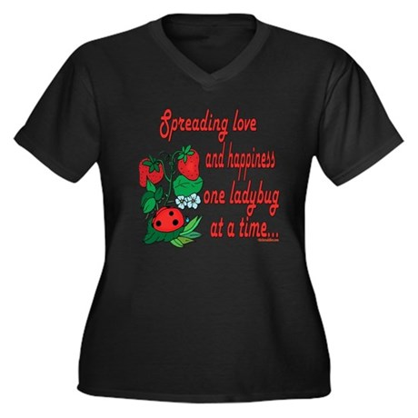 Spreading Love Ladybugs Women's Plus Size V-Neck D