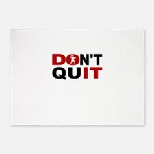 Dont Quit Table Tennis 5'x7'Area Rug