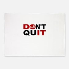 Dont Quit Swimming 5'x7'Area Rug