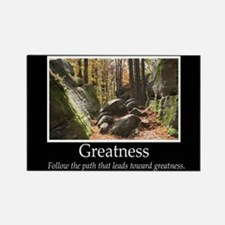 Greatness Autumn Woods Rectangle Magnet