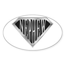 SuperNephew(metal) Oval Decal