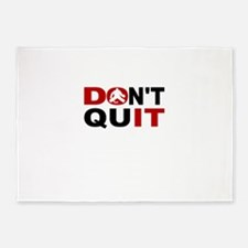Dont Quit Hockey 5'x7'Area Rug