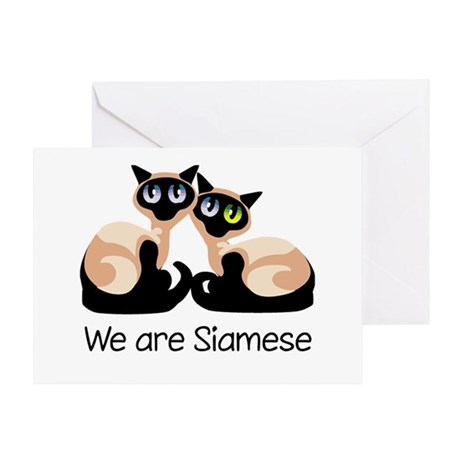 We Are Siamese Cats Greeting Card