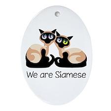 We Are Siamese Cats Oval Ornament