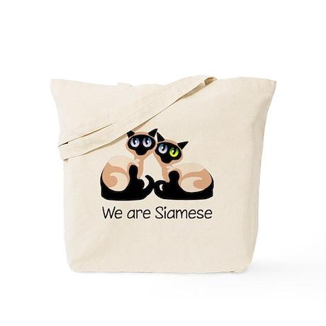 We Are Siamese Cats Tote Bag