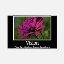 Vision-Purple Flower Rectangle Magnet