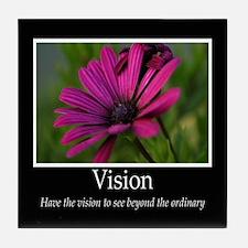 Vision-Purple Flower Tile Coaster