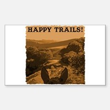 Happy Trails. Horse Rectangle Decal