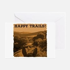 Happy Trails. Horse Greeting Card