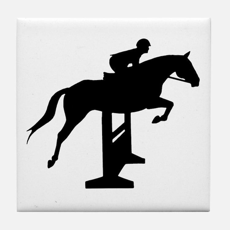 Hunter Jumper Over Fences Tile Coaster