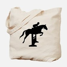 Hunter Jumper Over Fences Tote Bag