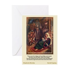 The Shepherds Worship-Copping-Greeting Card
