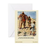 David and Goliath-Brock-Greeting Card