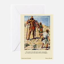 David and Goliath-Brock-Greeting Card