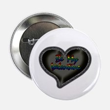 Gay Be My Valentine Button