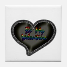 Gay Be My Valentine Tile Coaster