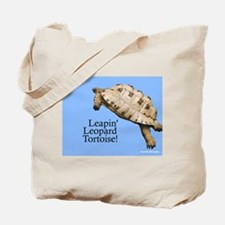 Leapin' Leopard Tortoise Tote Bag