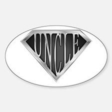 SuperUncle(metal) Oval Decal